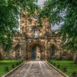 Durham Castle Gate by Stephen Hall - Buildings & Architecture Public & Historical ( durham, england, castle, historic, gate )