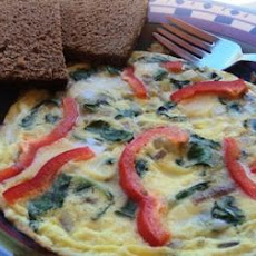 Swiss Chard & Goat Cheese Frittata