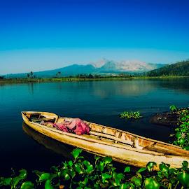 Fisherman Boat by Yakkup Fauzan - Transportation Boats