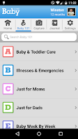 Screenshot of WebMD Baby