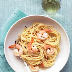 Pasta with Rosemary Shrimp Scampi