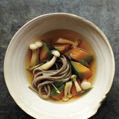 Japanese Squash-and-Soba-Noodle Soup