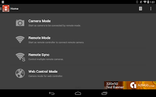 Screenshot of Camera Remote