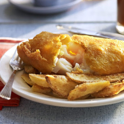 Golden Beer-battered Fish With Chips