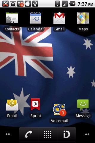 玩個人化App|Australia Flag Live Wallpaper免費|APP試玩