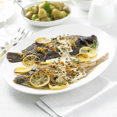 Lemon Sole With Crab & Tarragon Butter Sauce