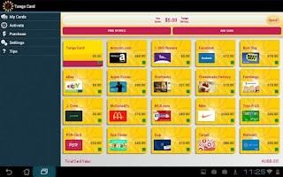Screenshot of Tango Card – Gift Card Wallet