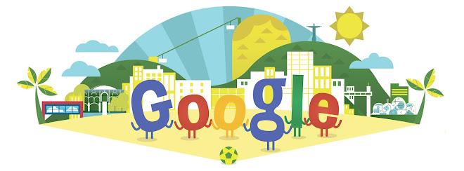 Foto: Google celebra arranque da Copa do Mundo com um Doodle personalizado O Google assinala o início do campeonato do mundo de futebol, com um doodle personalizado na sua home page. Uma homenagem ao verde e amarelo da bandeira do país anfitrião, Brasil. http://go.pwm.pt/1s7Tsjj