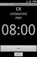 Screenshot of My Debate Timer