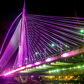My PUJ Bridge Closeup by Syahrul Nizam Abdullah - Buildings & Architecture Bridges & Suspended Structures