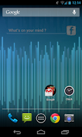 Screenshot of Facebook Status Update Widget