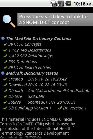 MedTalk™ SNOMED-CT® Browser