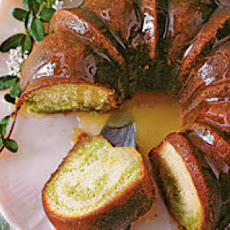 Green Tea-Honeysuckle Cake