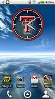 Screenshot of Texas Tech Live Clock