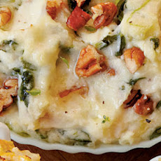 Creamy Spinach Mashed Potato Bake