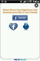 Screenshot of CallX