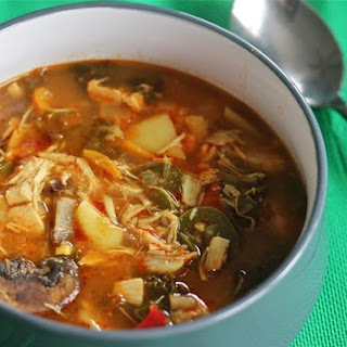 Slow Cooker Penang Curry Soup With Chicken and Kale
