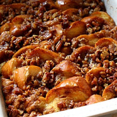 Baked French Toast with Maple and Praline