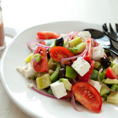 Greek Tomato Salad With Feta Cheese and Olives