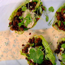 Crispy Fried Beef With Gem Lettuce And Crème Fraiche