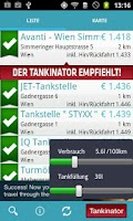 Screenshot of Tankinator - Billig Tanken