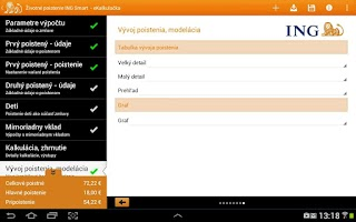 Screenshot of ING Apps