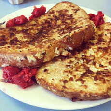 Coconut Encrusted French Toast with Raspberries