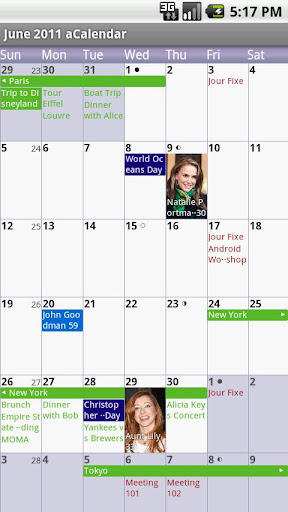 acalendar-android-calendar for android screenshot