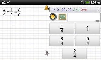 Screenshot of Maths Bug, mental maths games