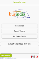 Screenshot of Bus India Mobile App