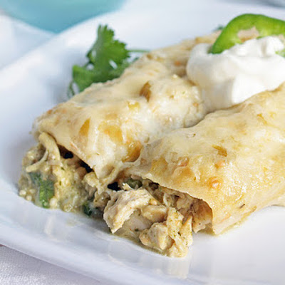 Green Chicken Enchiladas (Gluten Free)