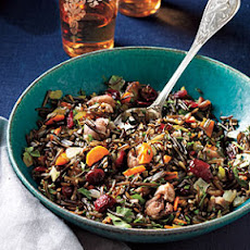 Wild Rice Dressing with Roasted Chestnuts and Cranberries