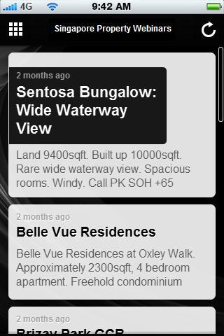 Singapore Property Webinars