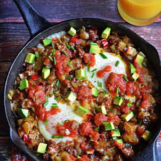 Chorizo Green Chile Breakfast Skillet