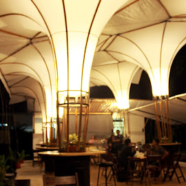 Corner of a cafe by Febrian Dwinanto - Buildings & Architecture Other Interior ( calm, warm, coffee, cafe, night )