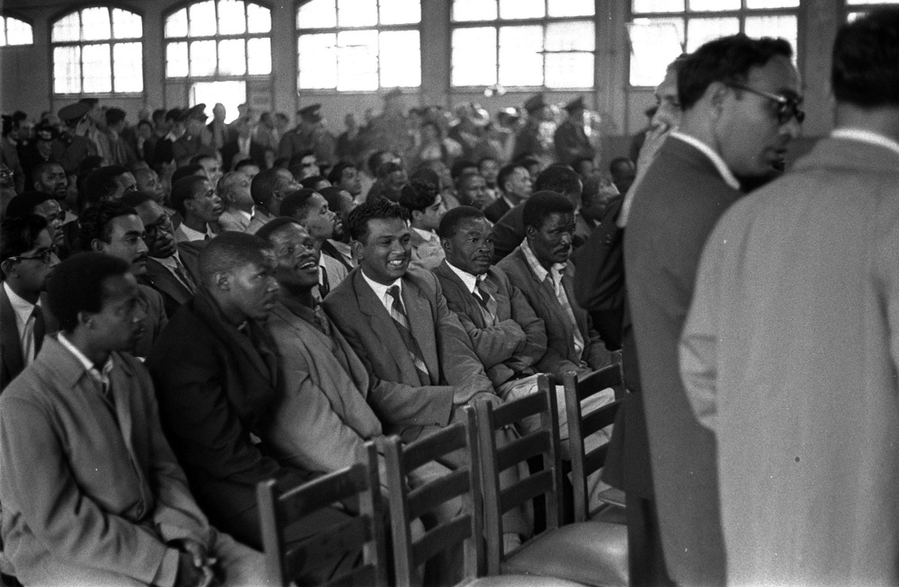 Inside the Drill Hall, Johannesburg, where the trial took place