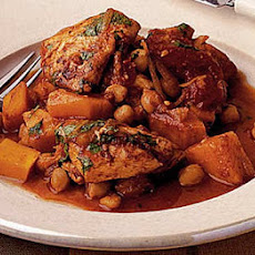 Chicken With Pumpkin & Chickpeas