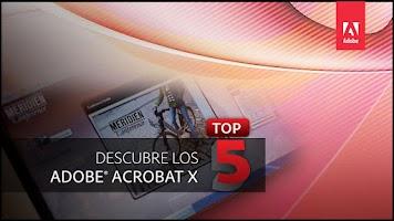 Screenshot of Acrobat X Top 5 Latinoamérica