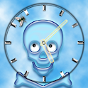 Crazy Skull Clock icon