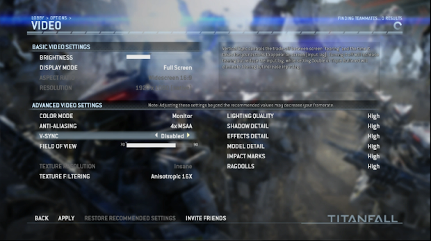PC gamers won't have to worry about 792p with the Titanfall beta