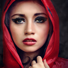 Red Girl by Irvan Darmawan - People Portraits of Women
