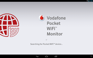 Screenshot of Vodafone Pocket WiFi Monitor
