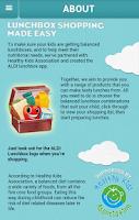 Screenshot of ALDI lunchbox