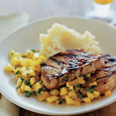 Peach-Glazed Pork Chops with Fresh Peach Salsa