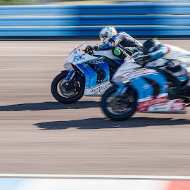 over take me by John Richards - Transportation Motorcycles ( panning, racing, motorcycle, thruxton )