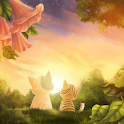 Kitten Sunset Live Wallpaper
