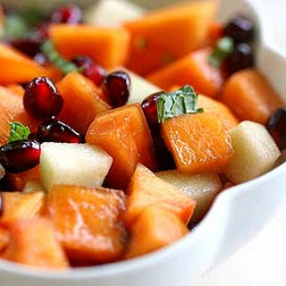 Persimmon Pomegranate Fruit Salad