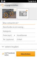 Screenshot of Kleinanzeigen und Flohmarkt