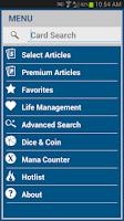 Screenshot of SCGMobile