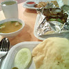 Grilled Stingray with Belacan in Foil with Rice